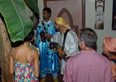 Gnaoua music at the riad 2
