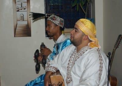 Gnaoua music at the riad