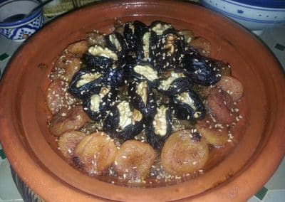 Lamb tagine with plums